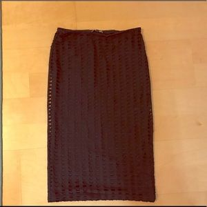 Express Black Hole Pattern Pencil Skirt Size Small